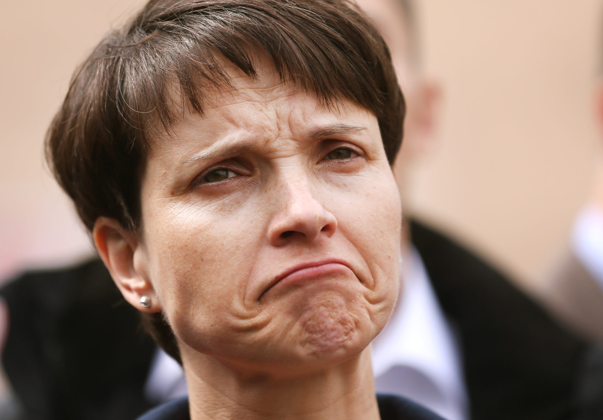 AfD co-spokeswoman Frauke Petry pictured at the European
